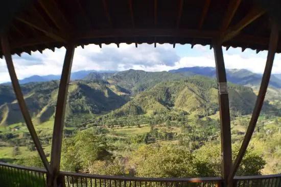 Mirador Alto de la Cruz en Salento, Colombia