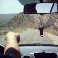driving to the palo duro basin in palo duro canyon state park