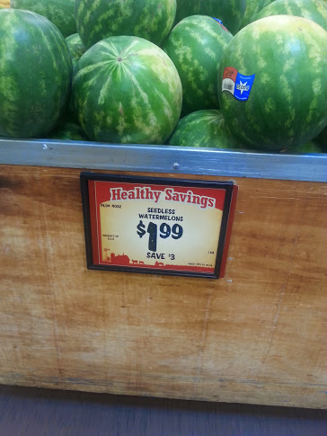 Watermelon on sale at Sprouts