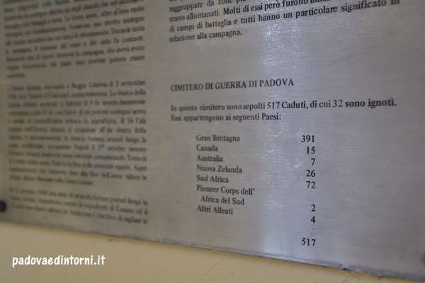 Padua War Cemetery - dettaglio caduti ©RobertaZago - padovaedintorni.it