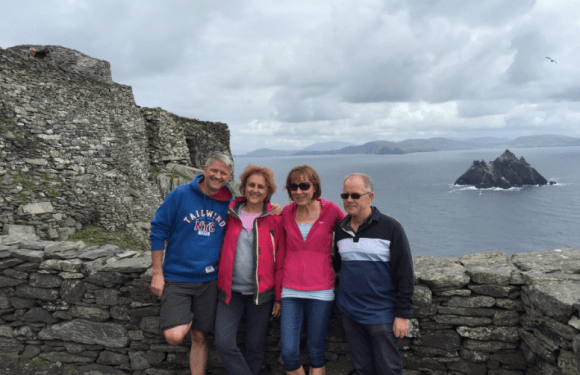 With our friends Ciaran and Bride -fellow pilgrims on the journey