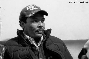 """""""Uno no puede dormir cuando vas en el tren, no se puede confiar en nadie"""" Edenilson, 25 años, El Salvador."""