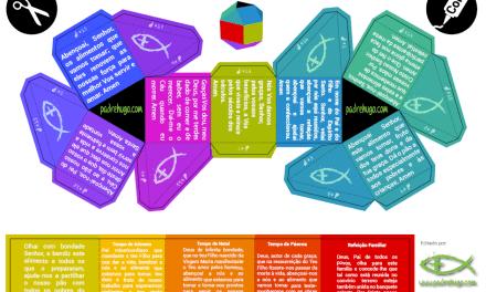 Origami; oração para as refeições