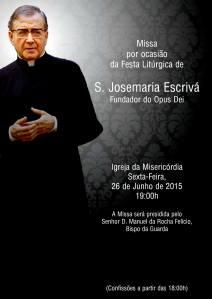 Missa S. Josemaria Guarda - Cartaz