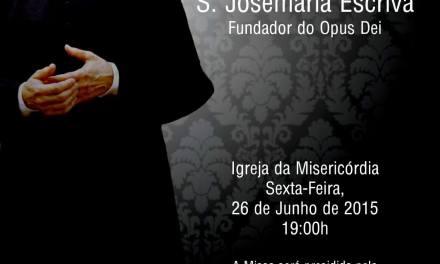 Guarda: missa de são Josemaria Escrivá.