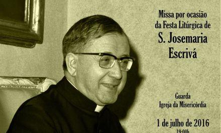 GUARDA: MISSA DE SÃO JOSEMARIA ESCRIVÁ