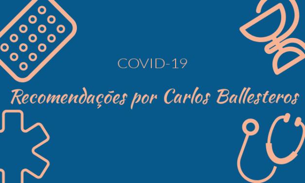 Recomendações para a epidemia de coronavírus