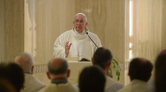 Papieska Msza w poniedziałek