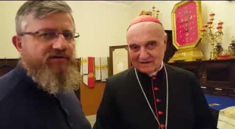 Rozmowa z Jego Eminencją  kardynałem  Angelo Comastri