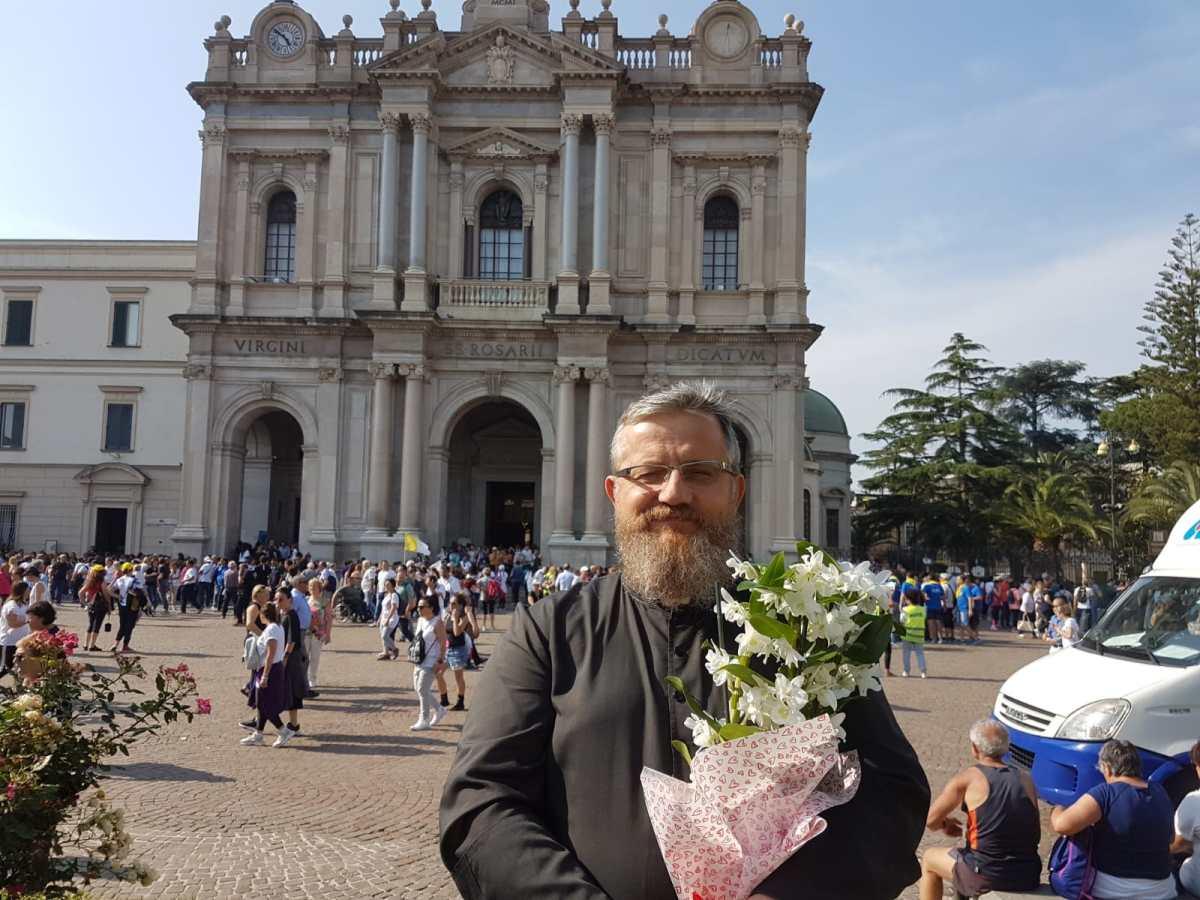 Nel santuario della Madonna del Rosario a Pompei (26.05.2018)