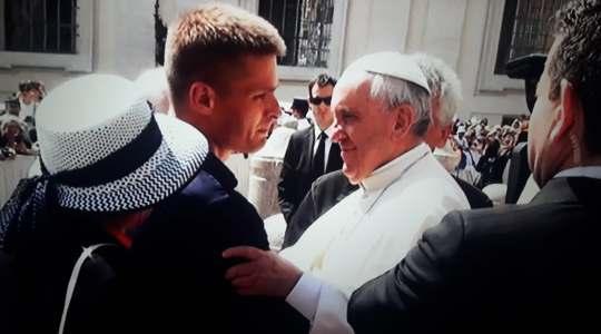 Tomasz Komenda przyjęty przez papieża Franciszka (Vatican Service News - 13.06.2018)