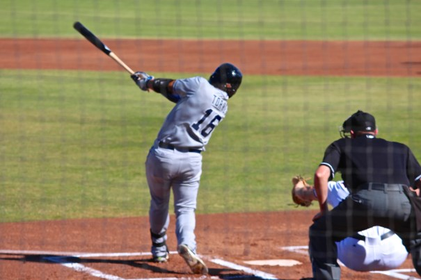 Padres Outfielder, Nick Torres, at the Arizona Fall League