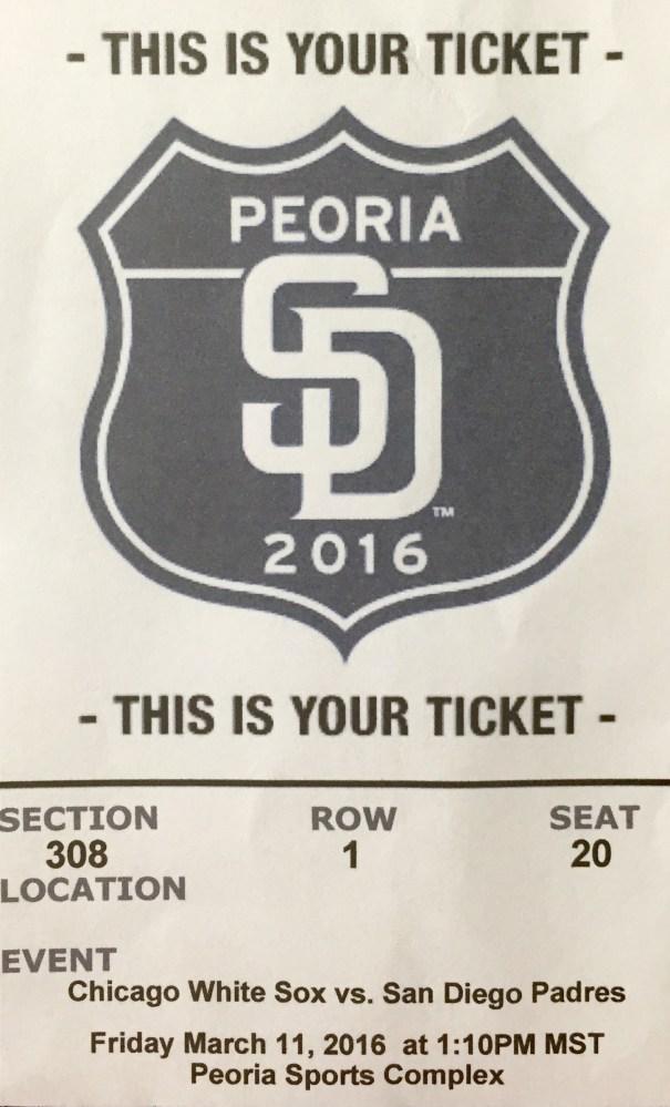 Ticket Peoria 308, 1, 20