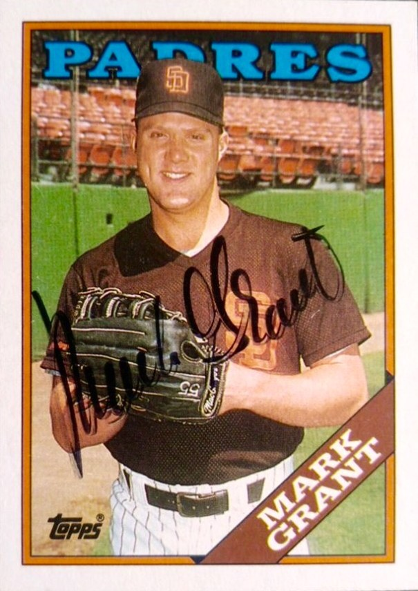 Mark Grant 1988 Padres