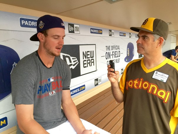 Wil Myers being interviewed by Wayne McBrayer