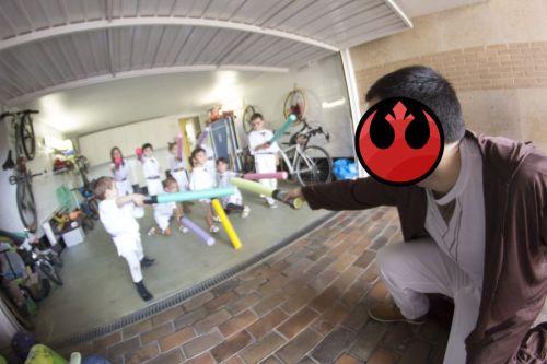 Padawan entrenando en la Academia Jedi