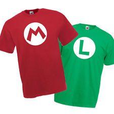 camisetas infantiles Mario y Luigi