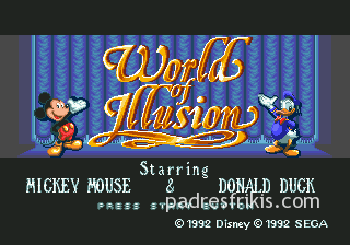 world of illusion - mega drive