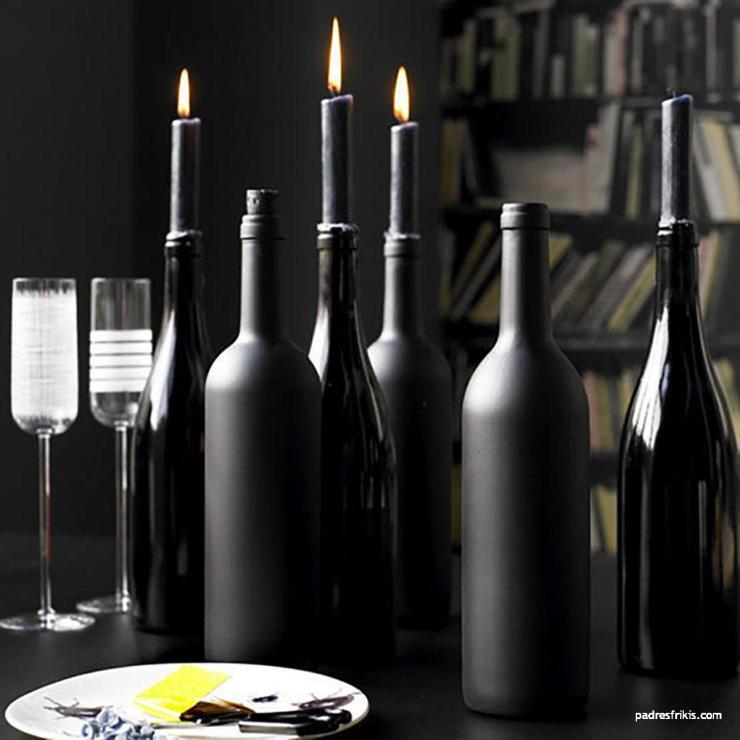 decoracion halloween manualidades vinos