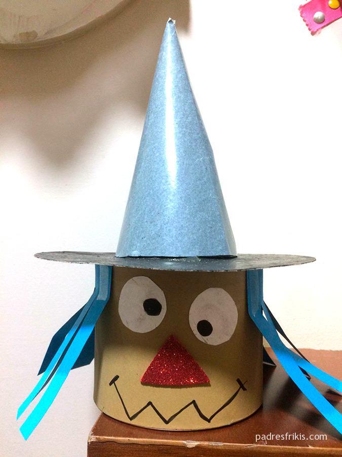 Manualidades Halloween niños: bruja
