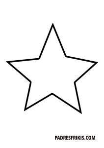 Estrella para imprimir y colorear