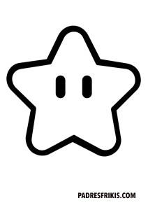 Estrella de Super Mario Bros para imprimir y colorear