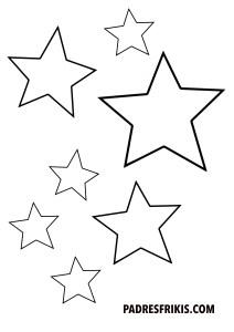 Estrellas para imprimir y colorear