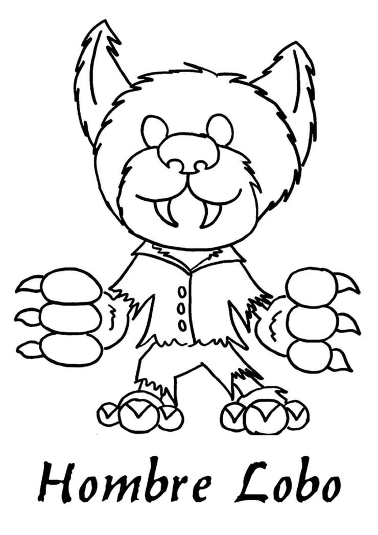 Dibujo Hombre Lobo colorear e imprimir