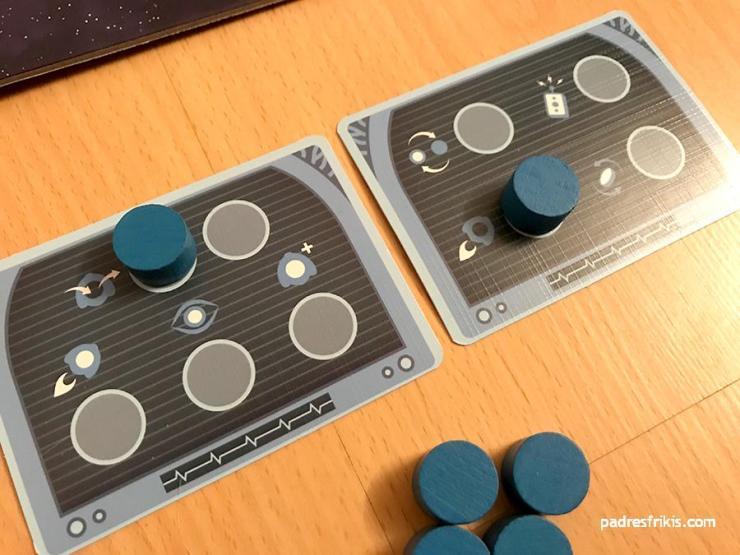 Los 2 Paneles de Control del jugador azul
