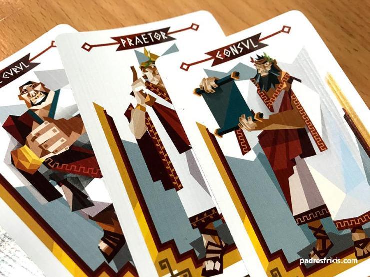 Cartas de los distintos roles del juego