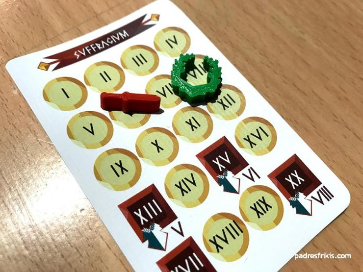 Carta Svfragivm con los marcadores en juego