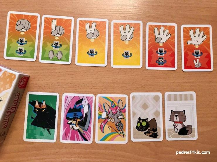 Gatos y Cartas de Acción