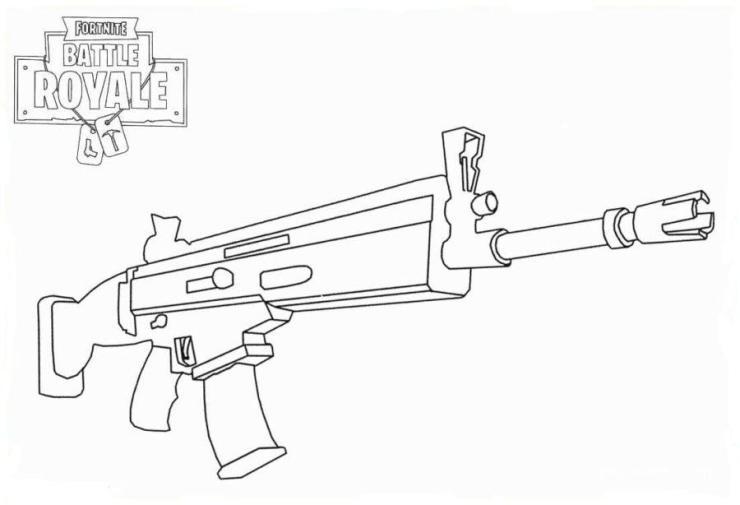 arma legendaria fortnite colorear