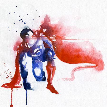 dibujos acuarelas superheroes