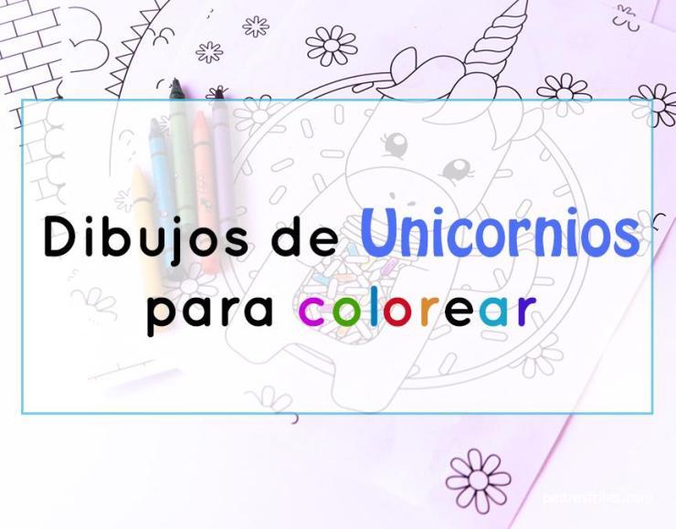 dibujos e ilustraciones de unicornios para colorear
