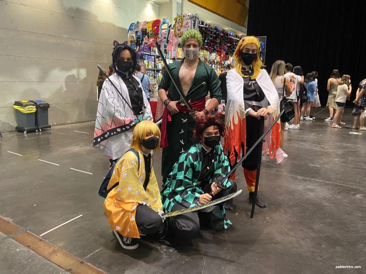 Grupal cosplay Kimetsu no Yaiba