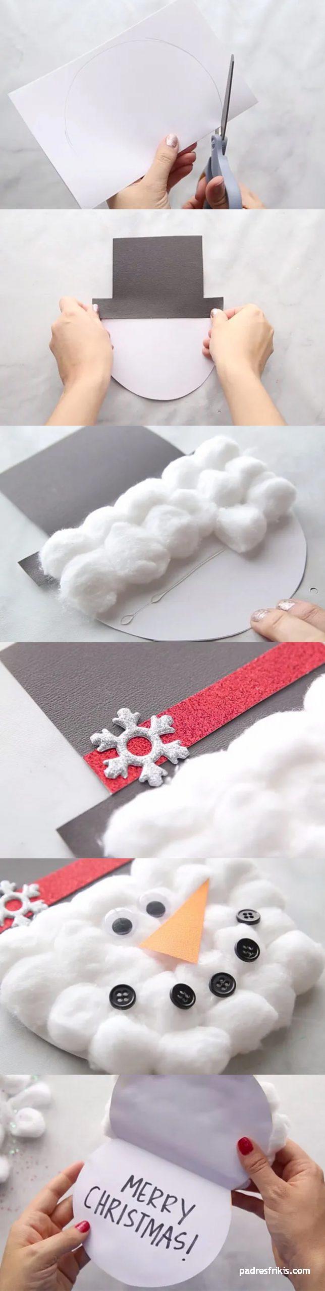 tarjeta de navidad muñeco de nieve