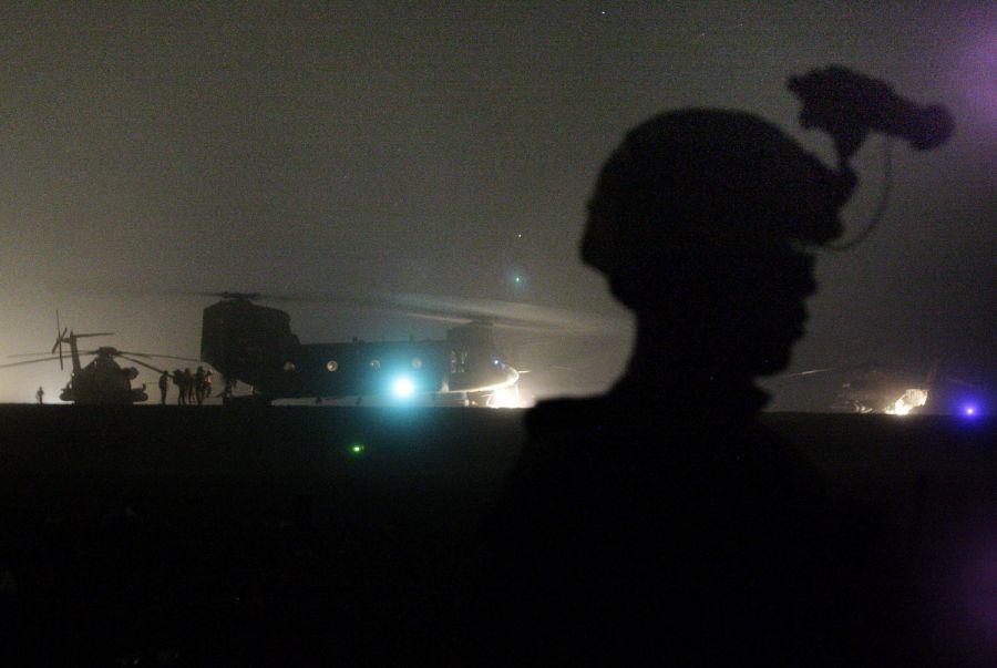 helos at night