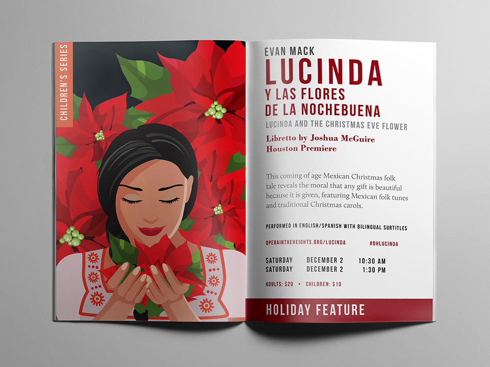 opera in the heights brochure graphic design layout gracie padron design studio