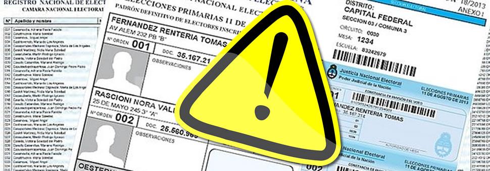 Manipulan el padrón con cambios de domicilios falsos