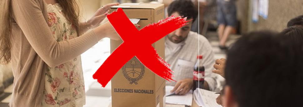 ATENCION : estos ciudadanos NO podrán votar en las PASO