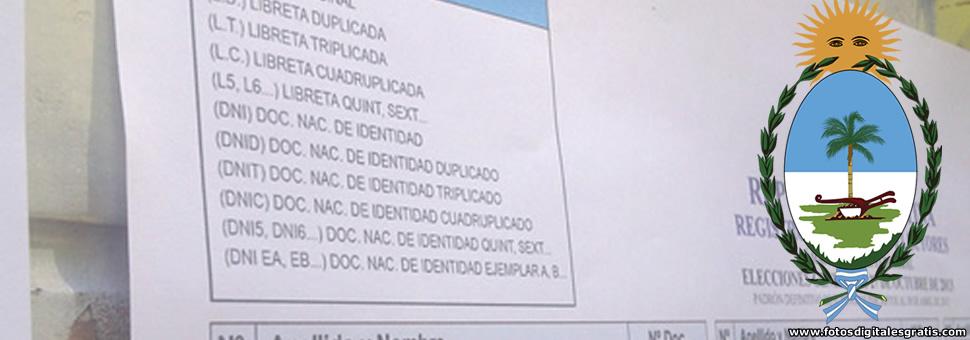 Exhiben el Padrón Provisorio de Electores Nacionales del Chaco