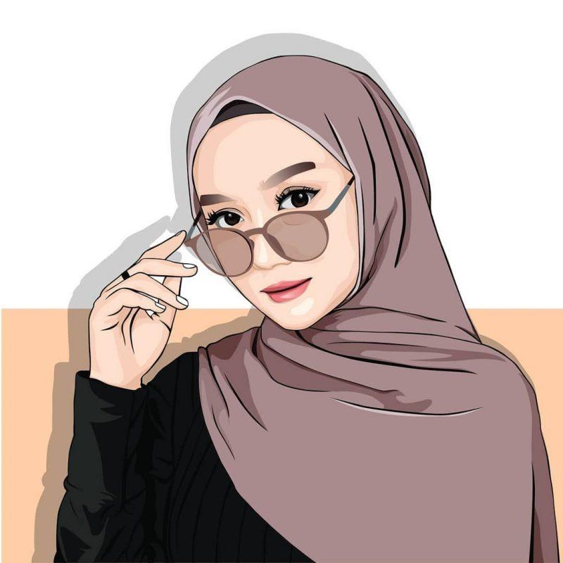 20 Koleski Terbaru Gambar Kartun Wanita Hijab Berkacamata Will You Love Me
