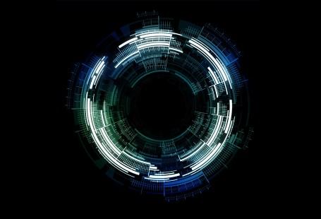 digitales schwarzes Loch