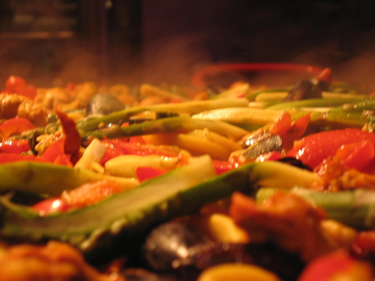 Paellea de verduras