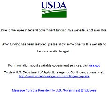 USDA_Website_Government_shutdown_notice