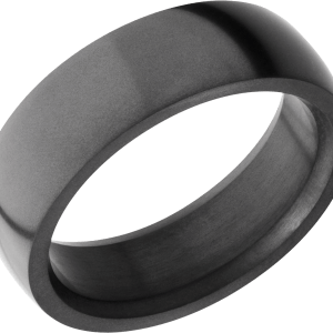 Men's 6 mm wide, domed, Elysium band with a polish finish.