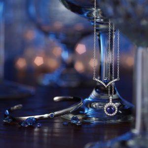 sapphire jewelry collage