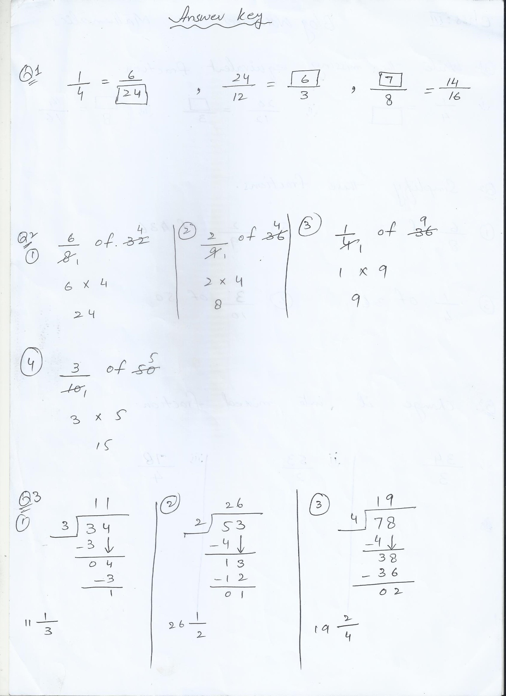 Math Blog Worksheet Year 3 2 Answer Key