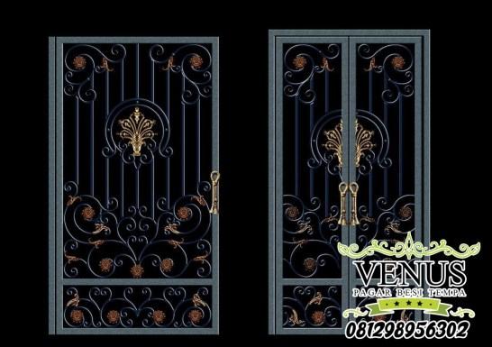 Pintu Besi Tempa Klasik (5)